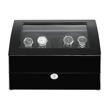 Rolex Watch Winder Box for 10 Automatic Watches - Black